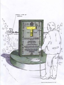 Artist's impression of the memorial. Drawn in 2005 by Andy Gammon