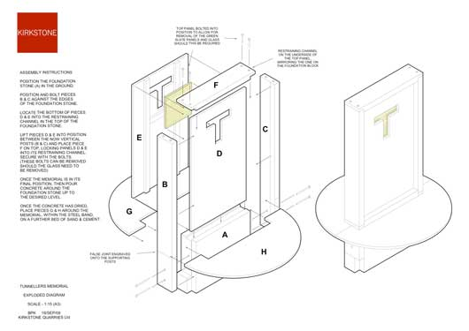 Exploded diagram and assembly instructions