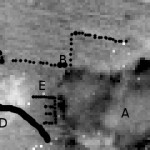Trench map, aerial photo (1916) and plot for comparison of features
