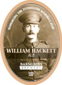Barngates Brewery's William Hackett Ale label